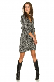 Freebird |  Leopard printed dress Gianna | black  | Picture 3