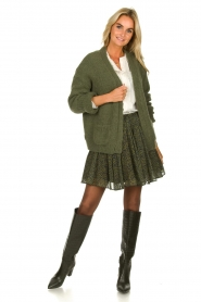 Janet & Janet | Leather boots with crocodile pattern Miranda | green  | Picture 2