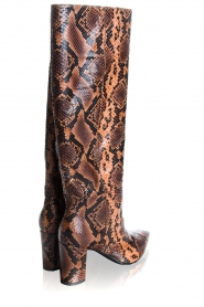 Janet & Janet | Leather snake print boots Ingrid | brown  | Picture 5