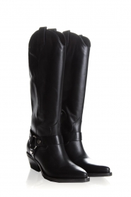 Janet & Janet | Leather boots Amanda | black  | Picture 4
