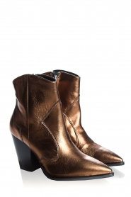 Janet & Janet : Leather boots Tonia | metallic - img3