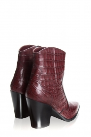 Janet & Janet | Short leather boots with crocodile pattern Miranda | burgundy  | Picture 4