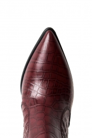 Janet & Janet | Short leather boots with crocodile pattern Miranda | burgundy  | Picture 5