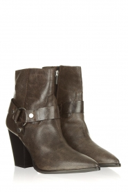 Janet & Janet |  Leather boots Felicia | dark brown  | Picture 6