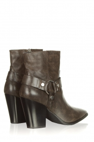 Janet & Janet |  Leather boots Felicia | dark brown  | Picture 7