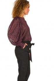 Silvian Heach   Top with puff sleeves and lurex Medidia   purple    Picture 5
