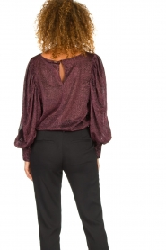 Silvian Heach | Top with puff sleeves and lurex Medidia | purple  | Picture 6