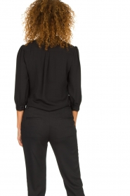 Silvian Heach | Blouse with lace and ruffles Taleb | black  | Picture 5