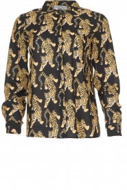 Silvian Heach | Blouse with print Capuanis | black  | Picture 1
