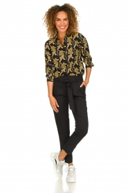 Silvian Heach | Blouse with print Capuanis | black  | Picture 3