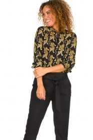 Silvian Heach | Blouse with print Capuanis | black  | Picture 4