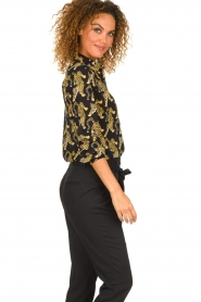 Silvian Heach | Blouse with print Capuanis | black  | Picture 5