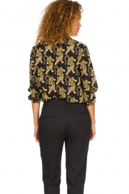 Silvian Heach | Blouse with print Capuanis | black  | Picture 6