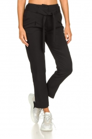 Silvian Heach | Trousers with ceinture Talai | black  | Picture 2