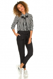 Silvian Heach | Trousers with ceinture Talai | black  | Picture 3