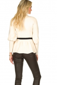 Silvian Heach |  Peplum sweater with ceinture Tiberkani | naturel  | Picture 5