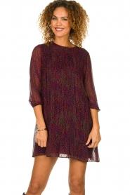 ba&sh |  Printed dress Grace | purple  | Picture 4