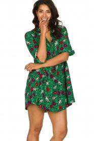 ba&sh |  Floral dress Pascou | green  | Picture 4