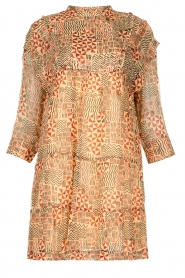 ba&sh |  Dress with aztec print Mahaut | beige  | Picture 1