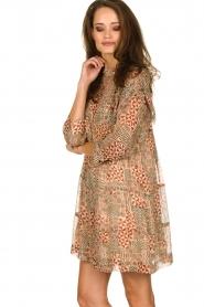ba&sh |  Dress with aztec print Mahaut | beige  | Picture 5