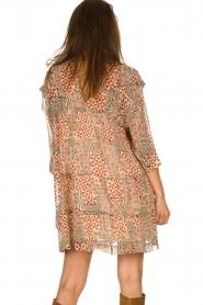 ba&sh |  Dress with aztec print Mahaut | beige  | Picture 6
