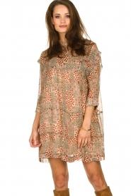 ba&sh |  Dress with aztec print Mahaut | beige  | Picture 4