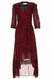 ba&sh |  Zebra print maxi dress with ruffles Selena | red  | Picture 1