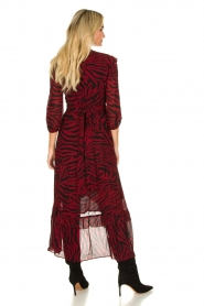 ba&sh |  Zebra print maxi dress with ruffles Selena | red  | Picture 4