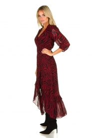 ba&sh |  Zebra print maxi dress with ruffles Selena | red  | Picture 3