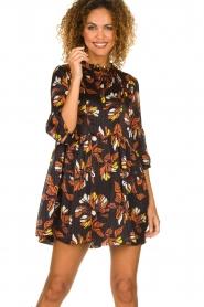 ba&sh |  Floral dress Anita | black  | Picture 2