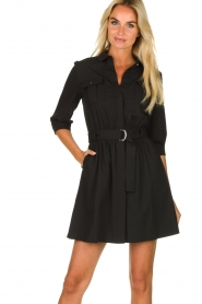 ba&sh |  Shirt dress Victoire | black  | Picture 2