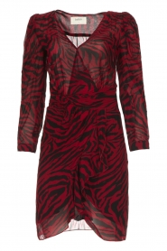 ba&sh |  Zebra print dress Saphir | red  | Picture 1