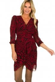 ba&sh |  Zebra print dress Saphir | red  | Picture 2
