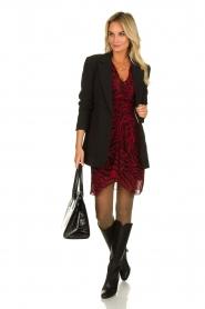 ba&sh |  Zebra print dress Saphir | red  | Picture 3