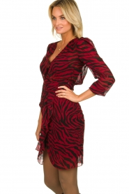 ba&sh |  Zebra print dress Saphir | red  | Picture 4