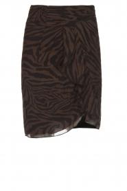 ba&sh |  Zebra print dress with ruffles Scarlett | brown  | Picture 1