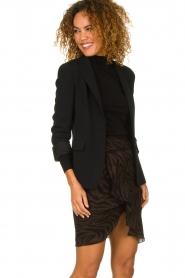 ba&sh |  Zebra print dress with ruffles Scarlett | brown  | Picture 2