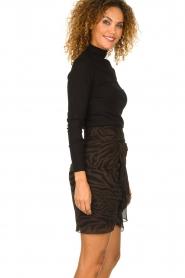ba&sh |  Zebra print dress with ruffles Scarlett | brown  | Picture 4