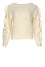 ba&sh |  Ruffle sweater Ciel | natural  | Picture 1