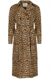 ba&sh |  Leopard print trench coat Fauve | camel  | Picture 1