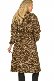ba&sh |  Leopard print trench coat Fauve | camel  | Picture 6