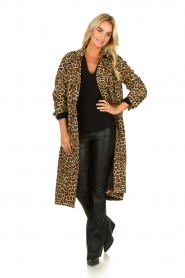 ba&sh |  Leopard print trench coat Fauve | camel  | Picture 3