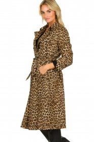 ba&sh |  Leopard print trench coat Fauve | camel  | Picture 5