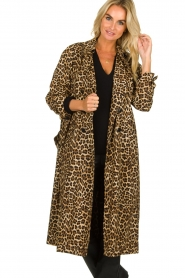 ba&sh |  Leopard print trench coat Fauve | animal print  | Picture 4