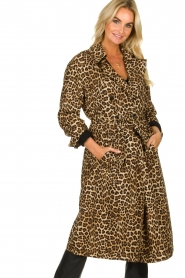 ba&sh |  Leopard print trench coat Fauve | animal print  | Picture 2