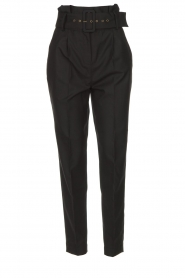 ba&sh |  Paperbag trousers Costa | black  | Picture 1