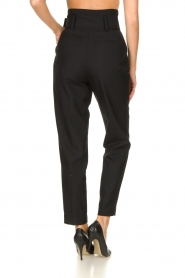 ba&sh |  Paperbag trousers Costa | black  | Picture 5