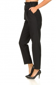 ba&sh |  Paperbag trousers Costa | black  | Picture 4