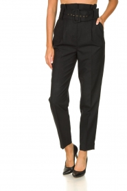 ba&sh |  Paperbag trousers Costa | black  | Picture 2