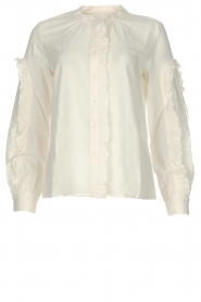 ba&sh |  Ruffle blouse Ceana | off-white  | Picture 1
